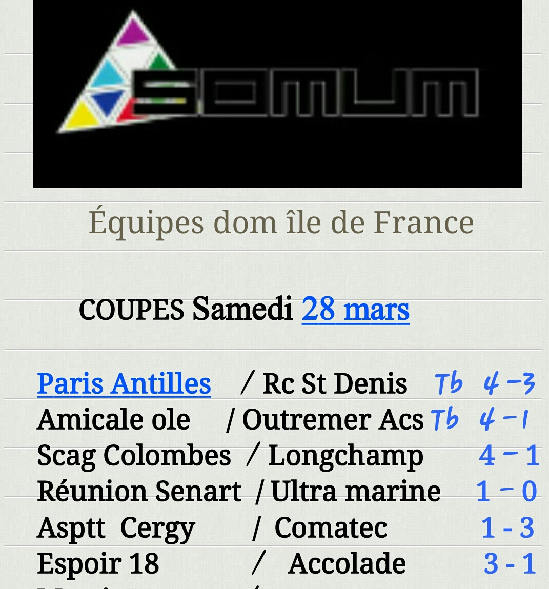coupe 28 mars
