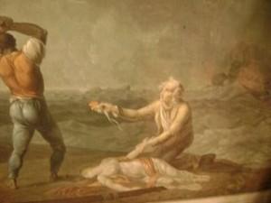 «Virginie, voyant la mort inévitable, posa une main sur ses habits, l'autre sur son coeur»