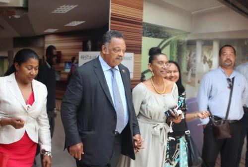 Jesse Jackson en compagnie de l'avocate Brigitte Rodes @Hugues PAGESY