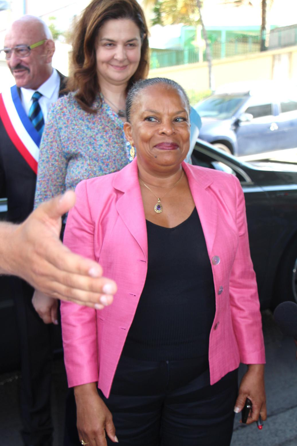 Chrisitiane Taubira tout sourire @Huges PAGESY