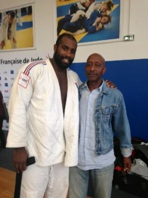 Teddy Riner en compagnie de Franck Zami