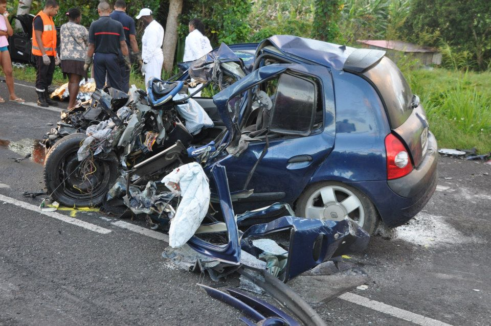 les accidents de la route en guadeloupe une inqui tante