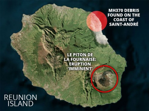 Une version sensationnaliste de l'éruption du Piton de la Fournaise pour faire le buzz
