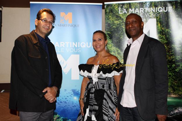 Karine Roy Camille entourée par Joel Din et Franck Zami