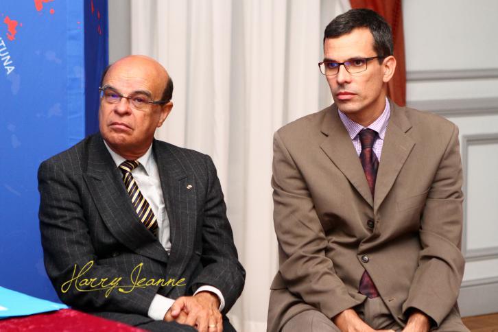 Wilfrid Bertile (à gauche) et Gilles Gauvin
