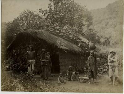 Famille indienne rurale vers 1880