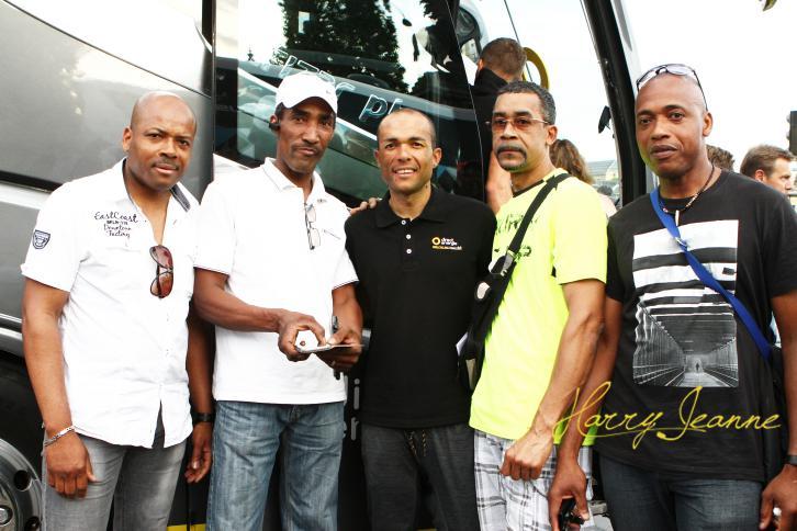 Les amis venant depuis la Guadeloupe