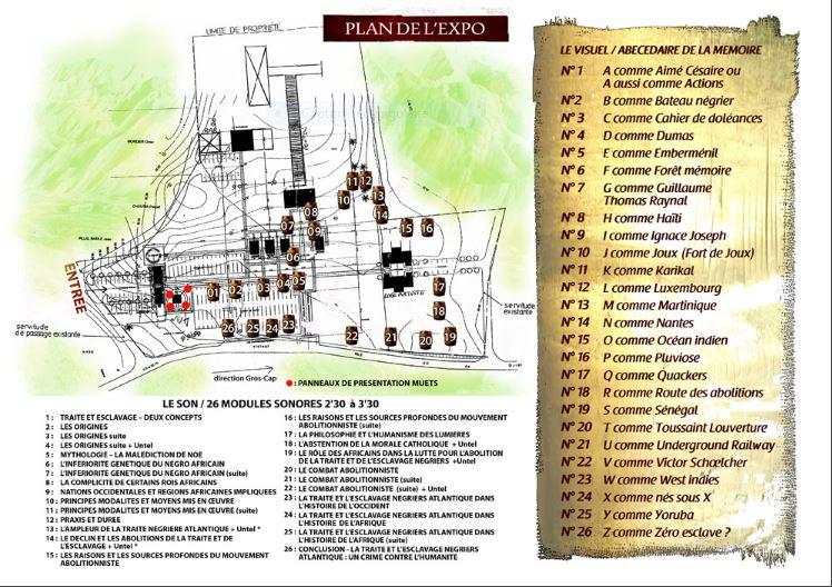 plan de l'expo luc