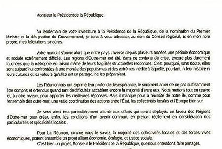 lettre Robert Macron