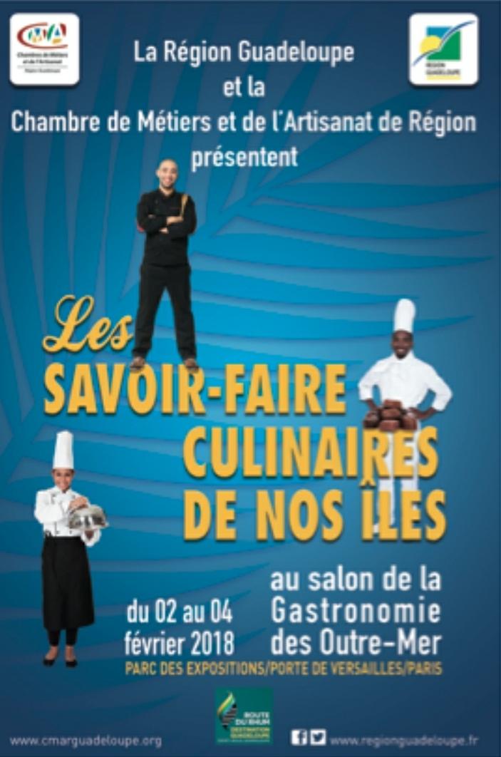 La guadeloupe au salon de la gastronomie des outre for Salon de la gastronomie